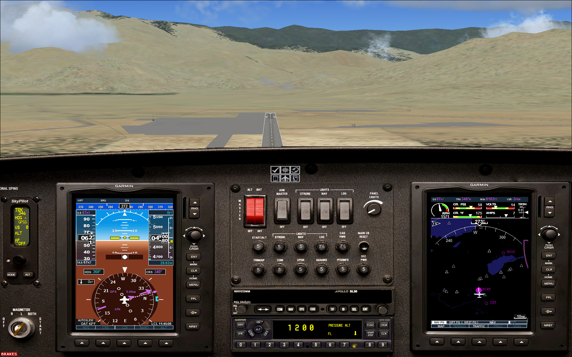 FSX - Cessna Skycatcher, on final