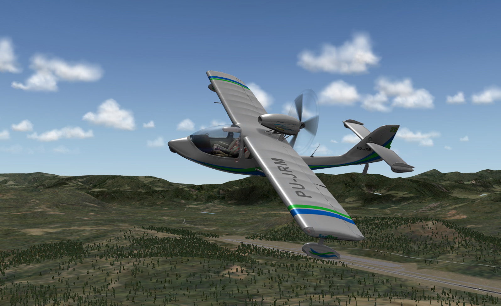 X-Plane - Seamax Aircraft, side view 2